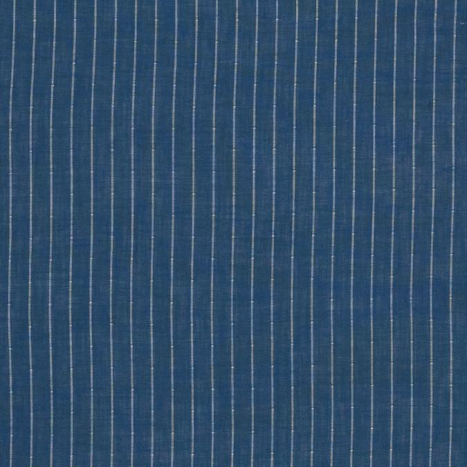 blue and white pencil striped cotton double cloth 318848 11