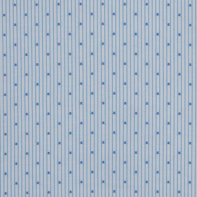 blue and white pencil striped shirting with anchors 118421 11