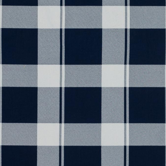 blue and white plaid japanese cotton shirting 318877 11