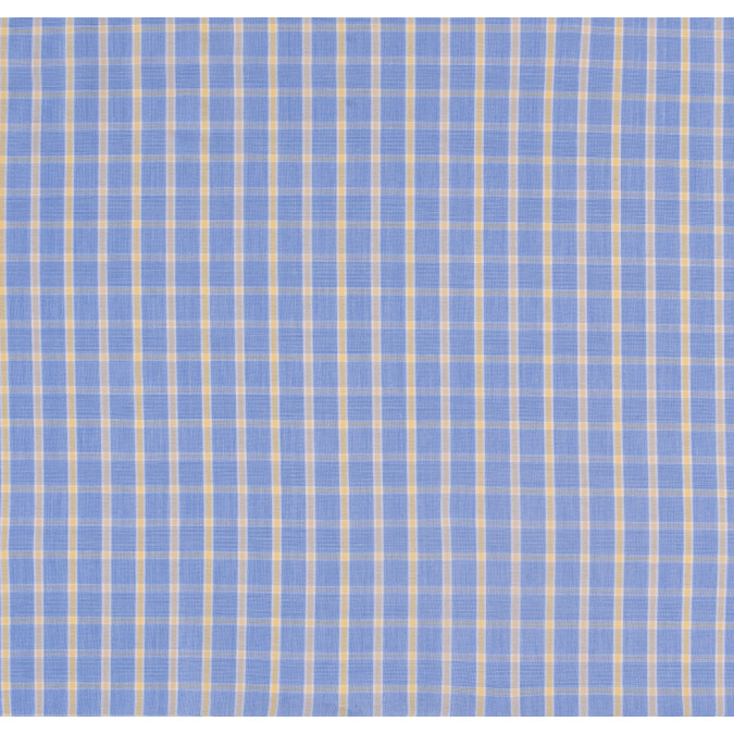 blue and yellow checked cotton shirting 303742 11
