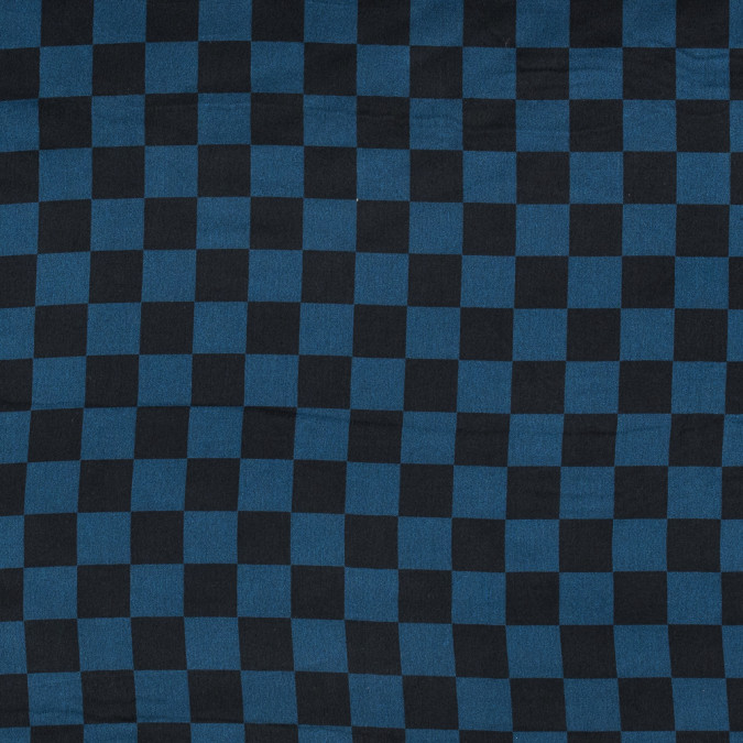 blue ashes and black checkered washed silk charmeuse 315696 11