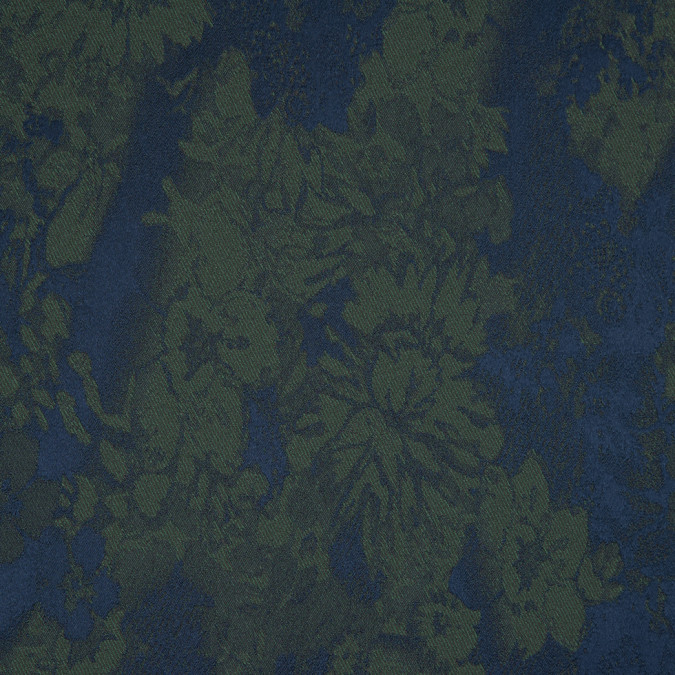 blue ashes mineral green floral stretch polyester jacquard 310035 11