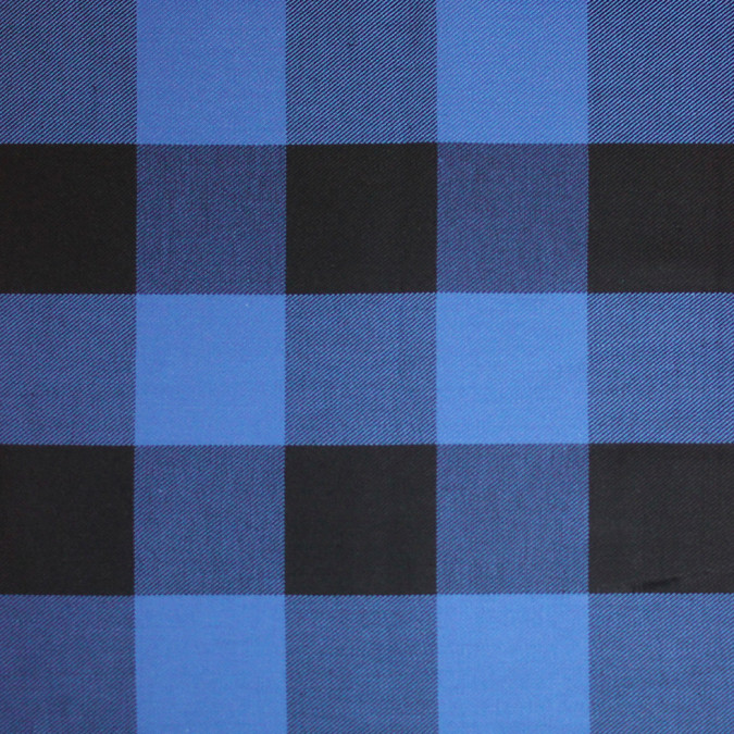blue black buffalo check cotton flannel 308613 11