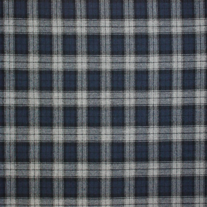blue black gray tartan plaid cotton flannel 308620 11