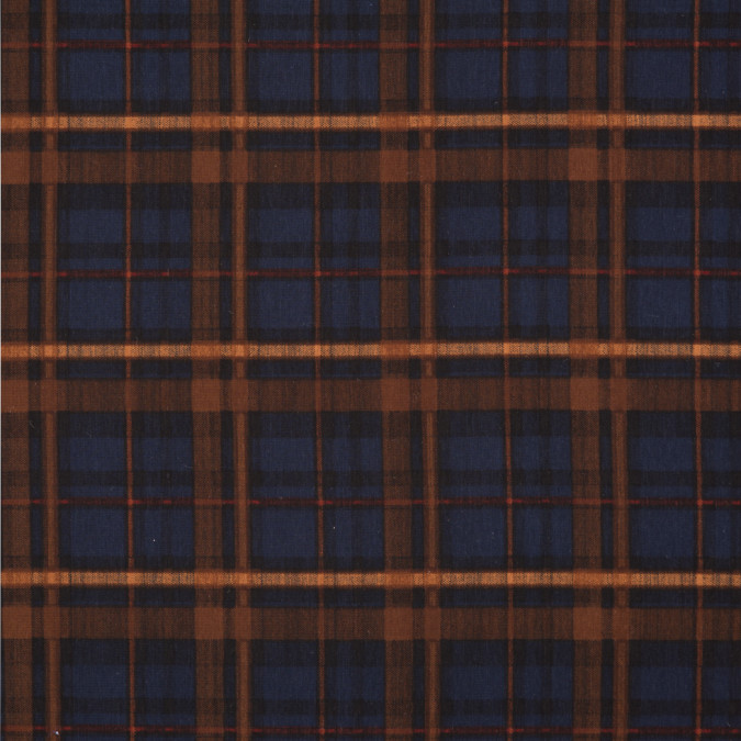 blue brown plaid printed polyester woven 309894 11