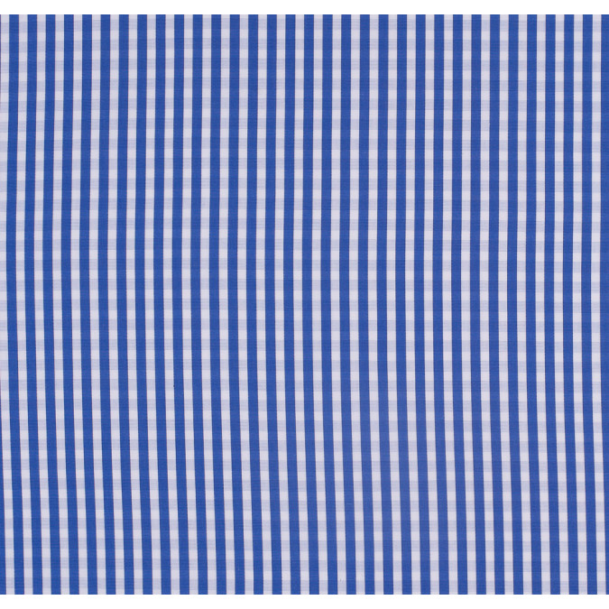blue checkered cotton shirting 303711 11
