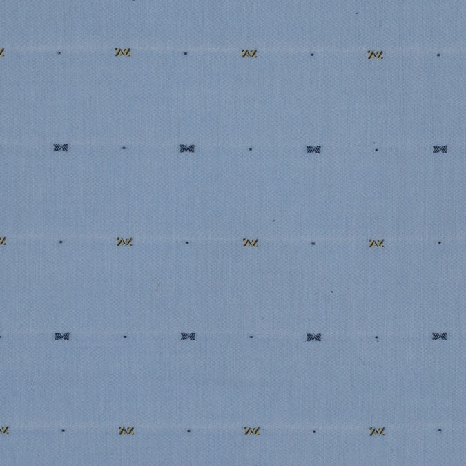 blue cotton chambray with woven design 318812 11