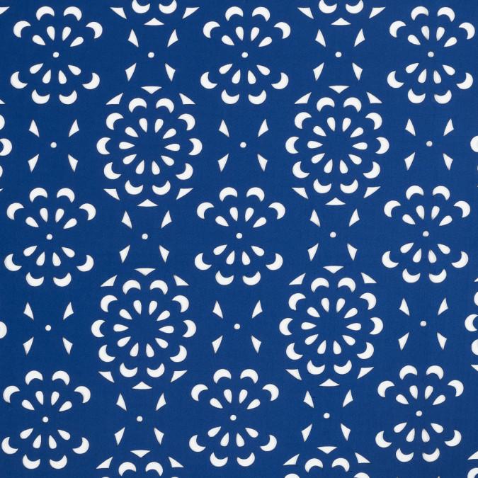 blue floral laser cut scuba knit neoprene 318259 11