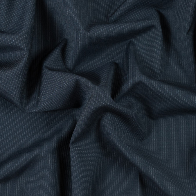 blue graphite and white pinstriped wool suiting 315203 11