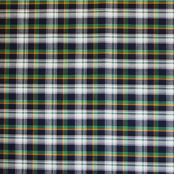blue green white plaid cotton flannel 308639 11