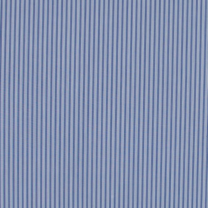 blue iris and white striped cotton shirting 317207 11