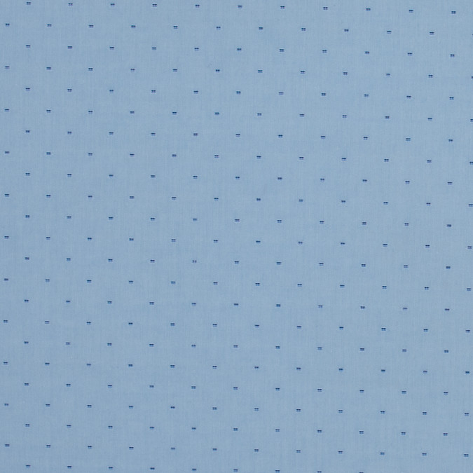 blue luxury cotton shirting with navy square polka dots 118436 11