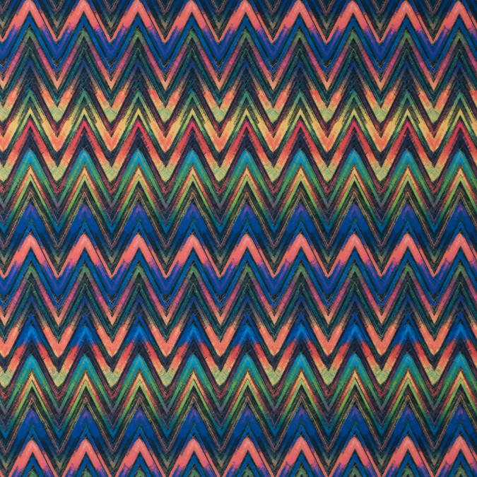 blue multi colored chevron max dri anti microbial performance tricot 310876 11