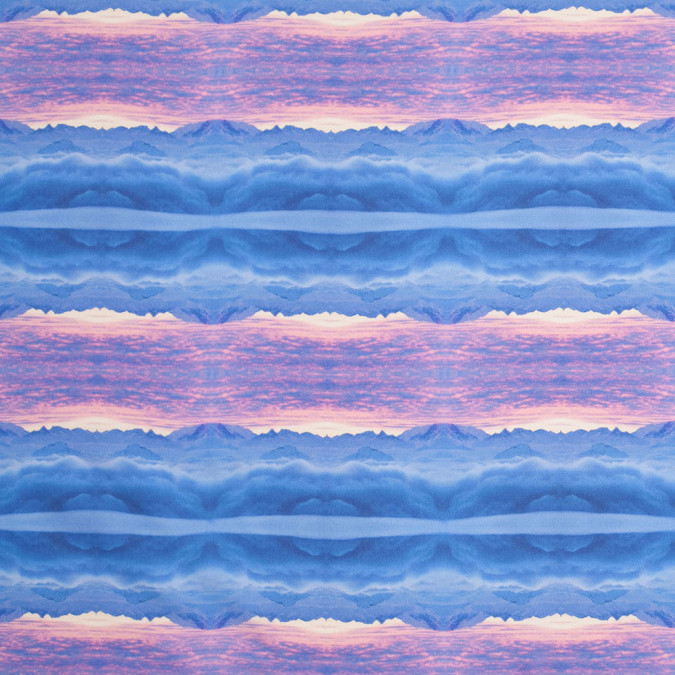 blue pink organic stripes digitally printed polyester charmeuse 307421 11