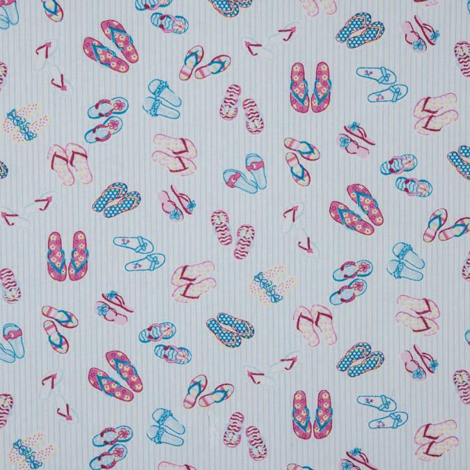 blue pink sandals printed cotton poplin 310726 11