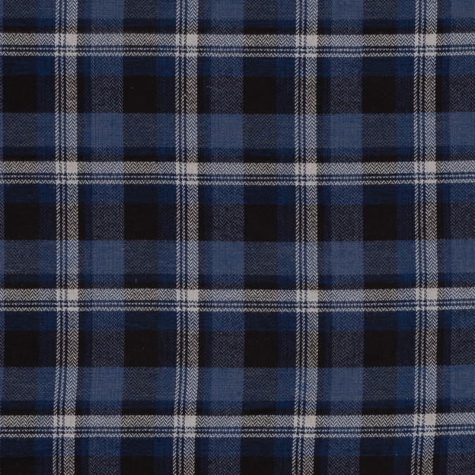 blue plaid japanese cotton tweed 318951 11