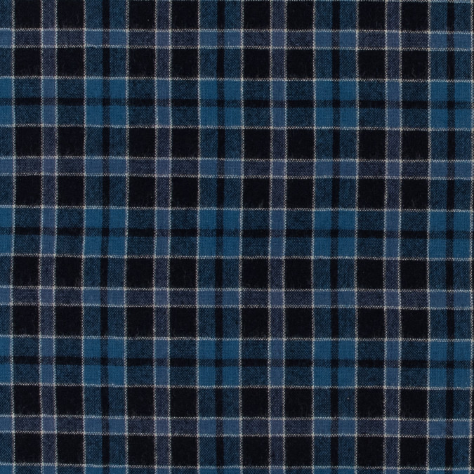 blue plaid wool woven 317307 11