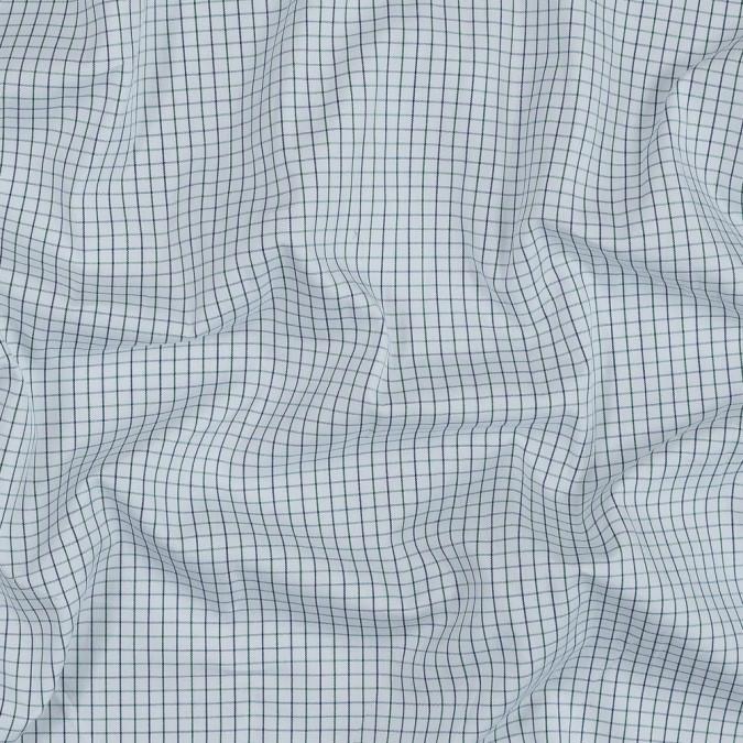 blue ribbon and green tattersall check japanese cotton shirting 318909 11
