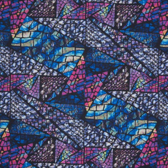 blue stained glass digitally printed tricot jersey 310336 11