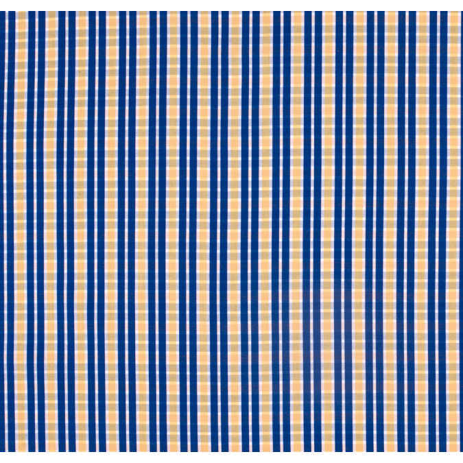 blue yellow checkered cotton shirting 303731 11