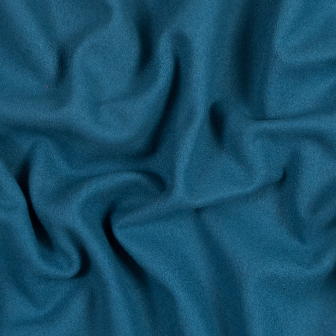 bright blue brushed twill wool coating 317223 11