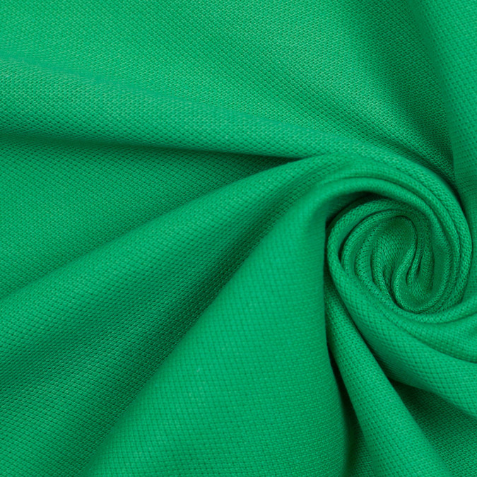 bright green solid cotton knit pique 305981 11