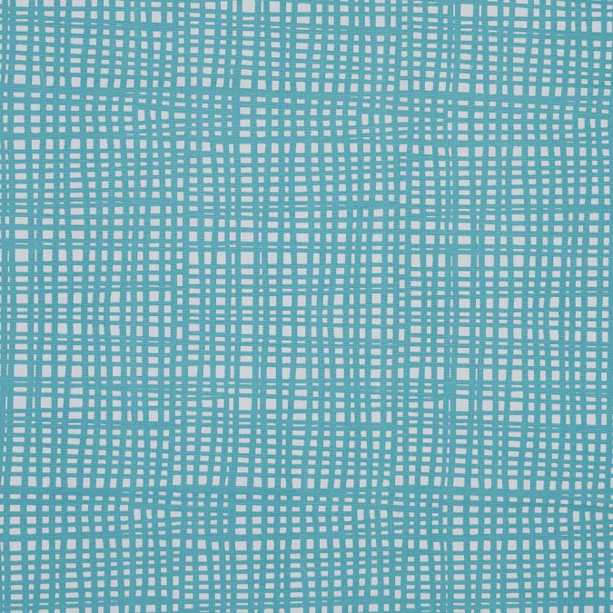 british cobalt grid printed cotton canvas awg971 11