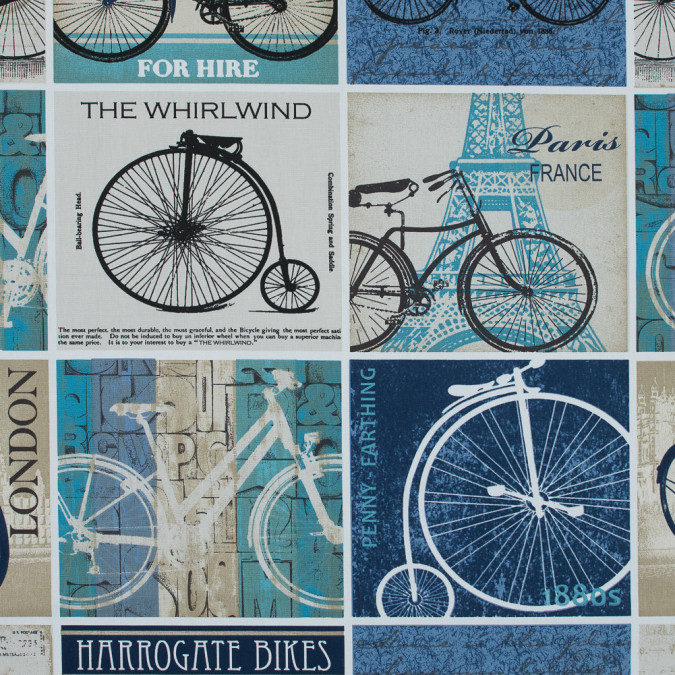 british indigo cyclist printed cotton canvas awg594 11