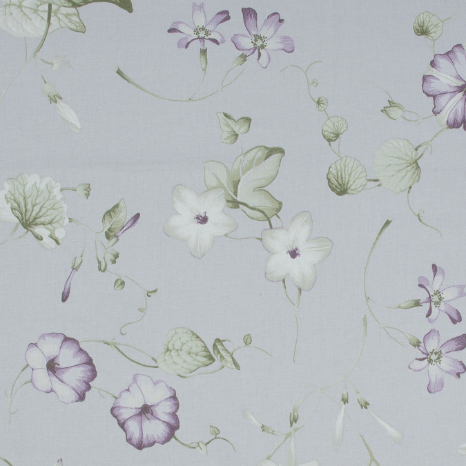 british lavender floral printed cotton canvas awg610 11