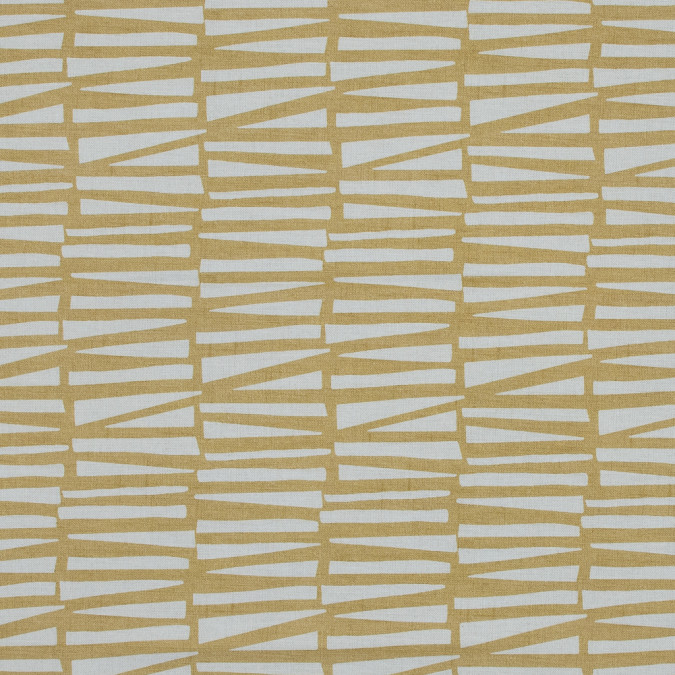 british ochre abstract geometric printed cotton canvas awg580 11