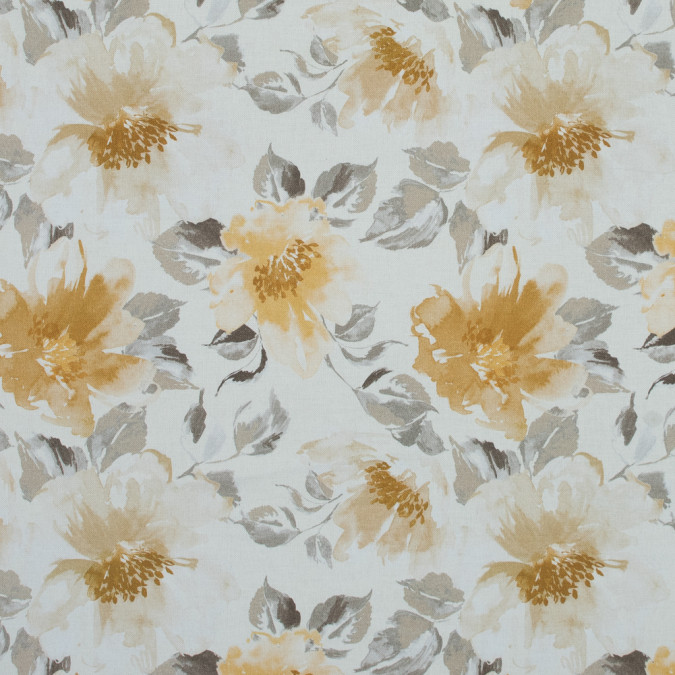 british ochre floral printed cotton canvas awg588 11