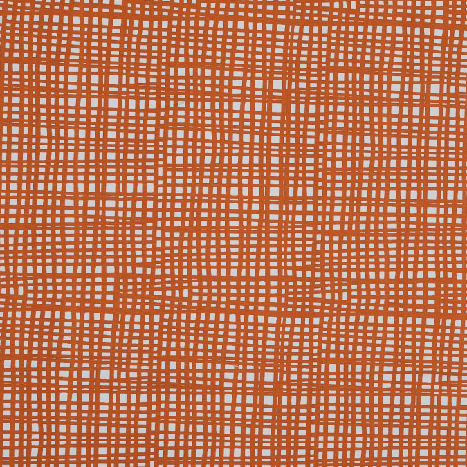 british orange grid printed cotton canvas awg968 11