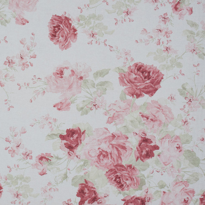 british pink floral printed cotton canvas awg566 11