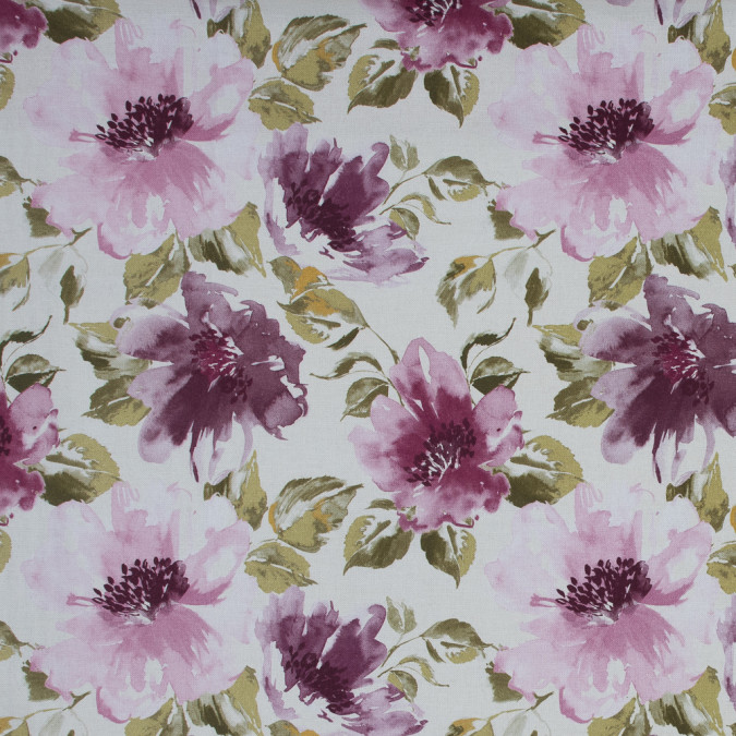 british plum floral printed cotton canvas awg590 11
