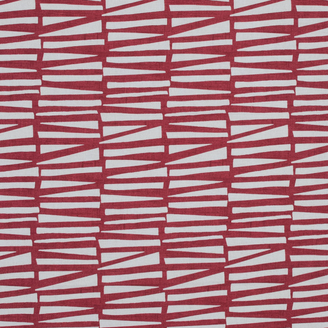 british red abstract geometric printed cotton canvas awg581 11