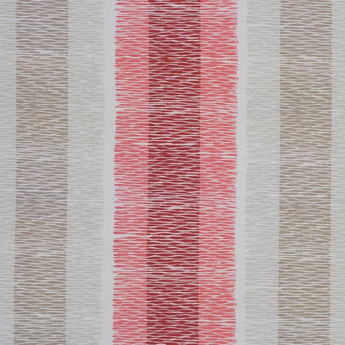 british red geometric striped printed cotton canvas awg576 11