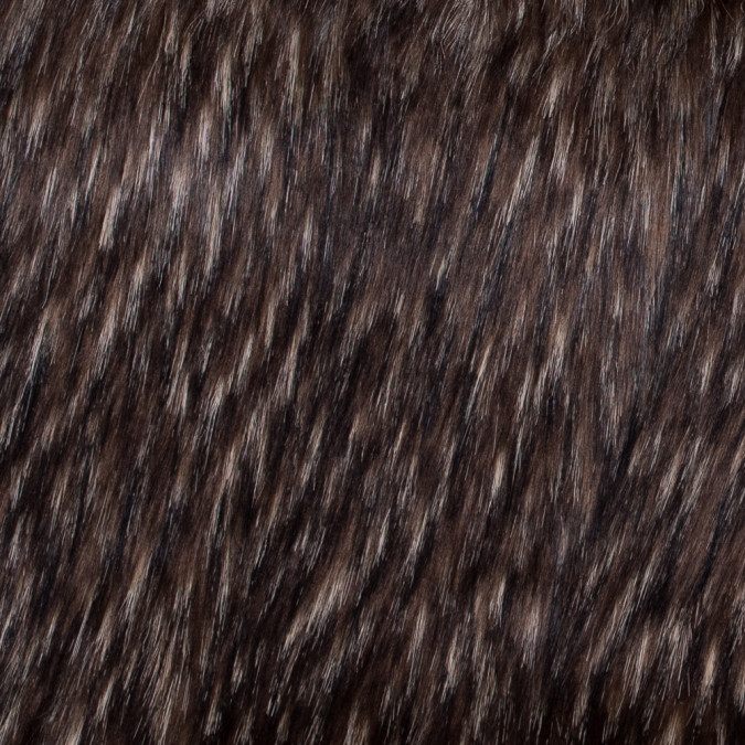 brown black and beige spotted faux fur 116575 11