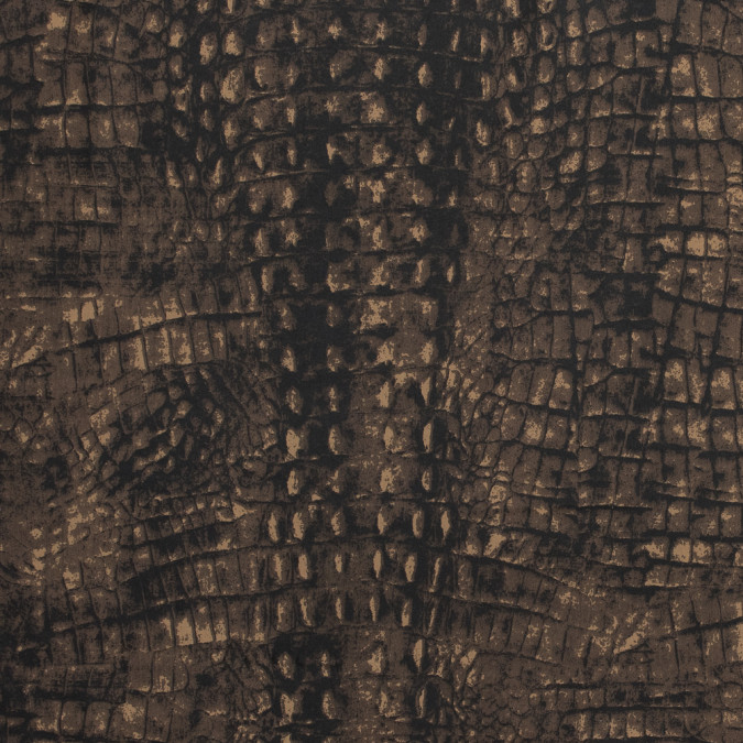 brown alligator printed stretch waxed cotton 317451 11