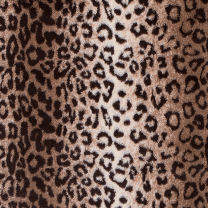 brown and beige leopard printed stretch faux fur 312771 11