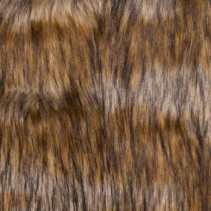 brown and beige long haired faux fur 116565 11