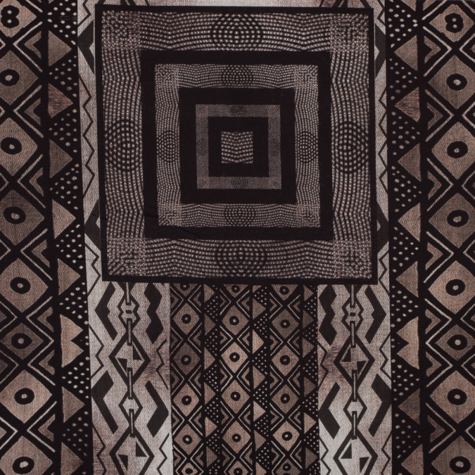 brown and black geometric printed polyester panel 317756 11