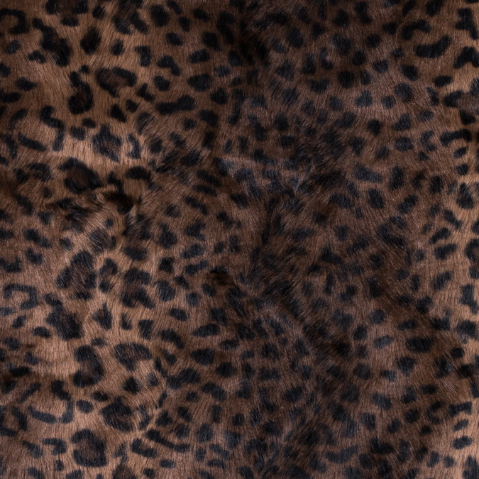 brown and black leopard printed faux fur backed by faux leather 312107 11
