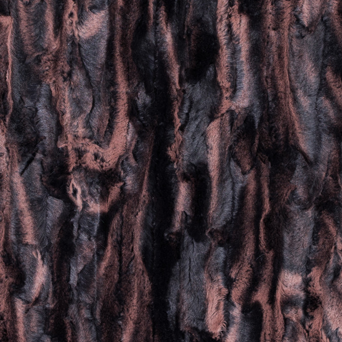 brown and black printed and embossed stretch faux fur 312770 11