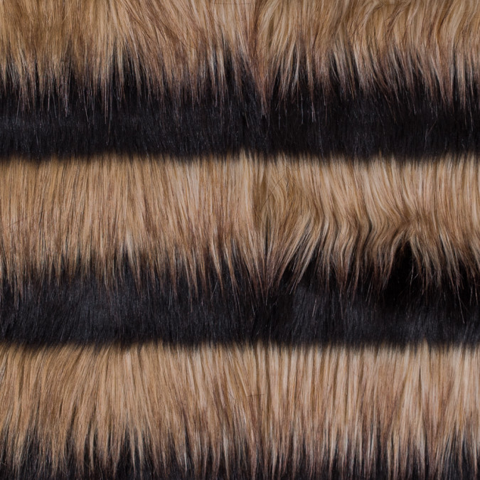 brown and black striped faux fur 116578 11
