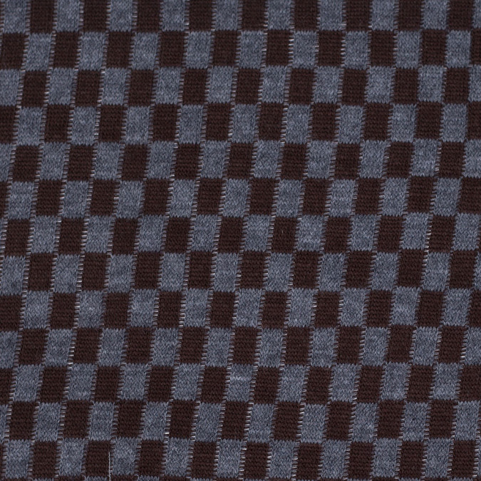 brown and gray checkerboard wool blend knit 303870 11