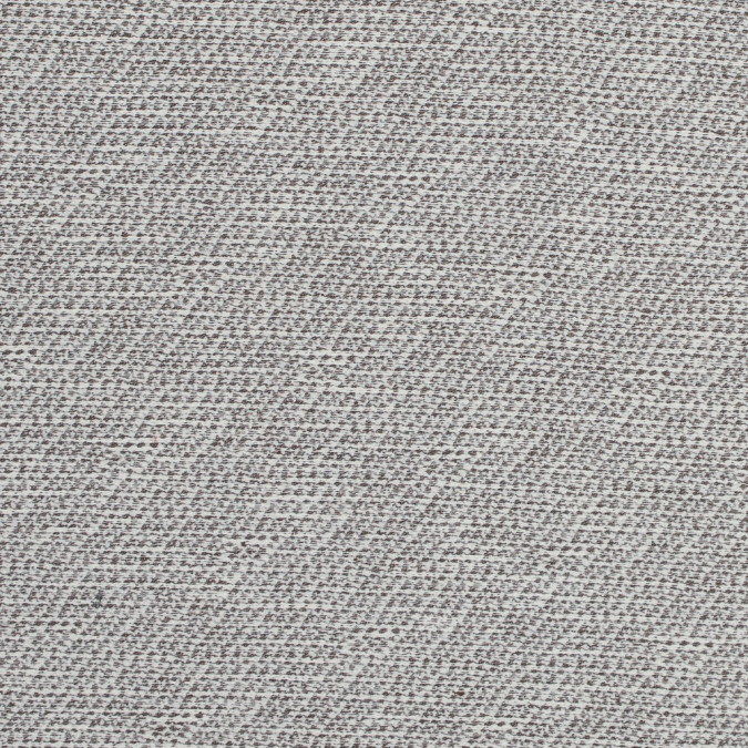 brown and ivory stretch cotton tweed 317651 11