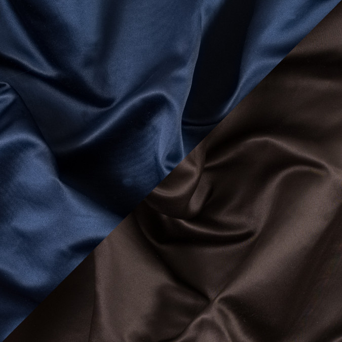 brown and navy two tone double duchesse satin 312585 11