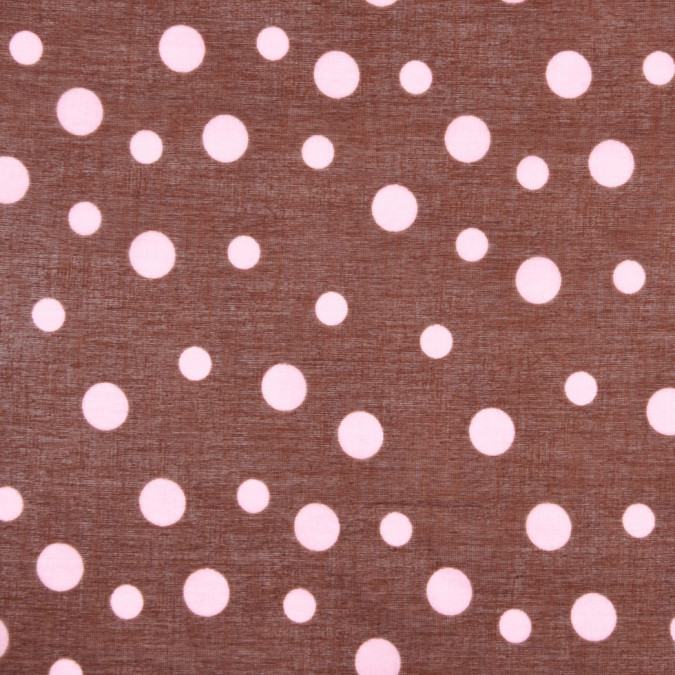 brown and pink dotted cotton voile fc12743 11