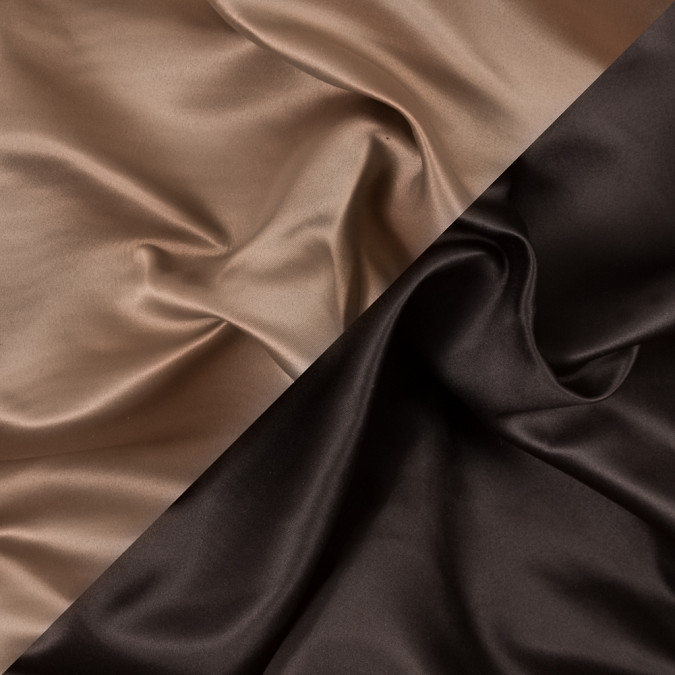 brown and tan two tone double duchesse satin 312584 11