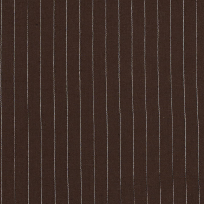 brown and white pencil striped linen woven 317585 11